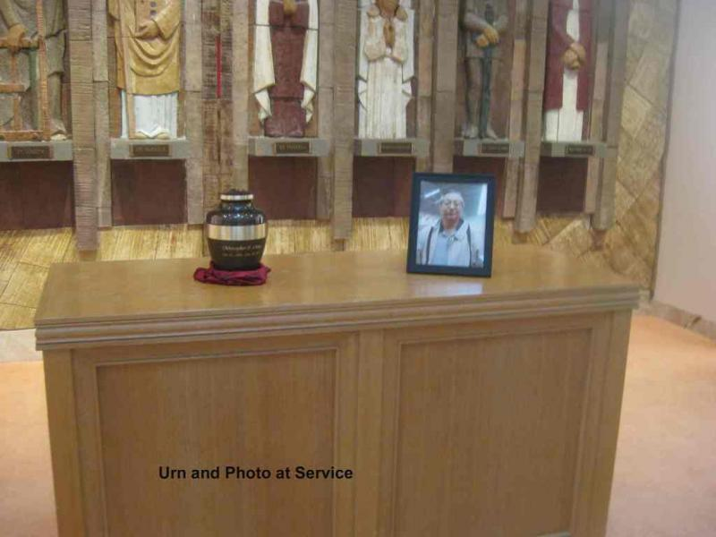 5. Urn and Photo at Service